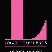 Lola's Coffee Bags label